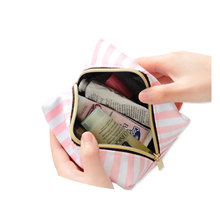 PVC Transparent Cosmetic Travel Bag Set Pink Make-up Organizer