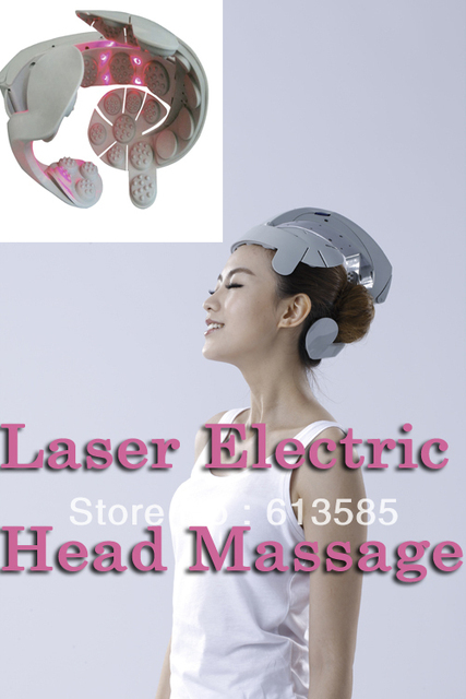 Head vibrating Massager/ Brain Relax/Low level Laser Therapy Device LLLT