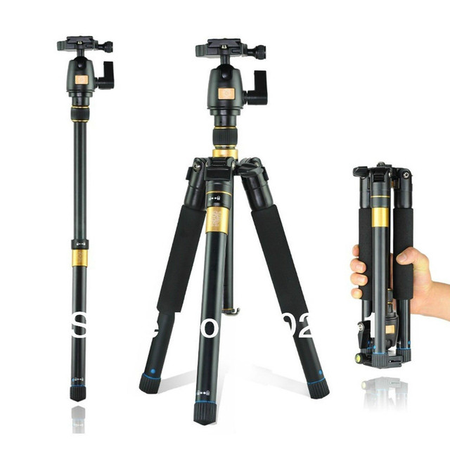 Portable Digital SLR Camera Tripod stand+Ball Head for Canon Nikon Sony Olympus Pentax DSLR DV CAMCORER+LowAngleShooting BK-555
