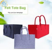 все цены на TCHY Felt Organizer Storage Basket Female Shopping Bag Non-woven for Women Handbags Picnic Basket Recycled Wool Picnic Baskets онлайн