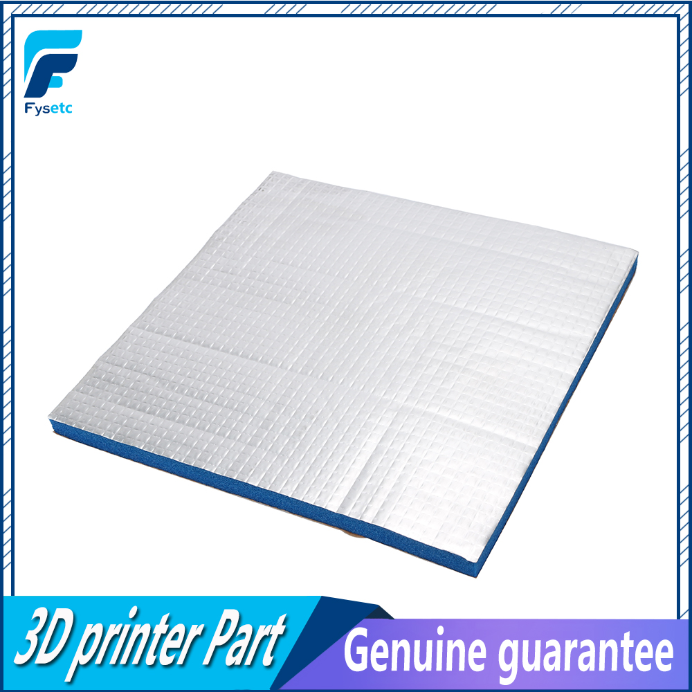 1PC 3D Printer Heating Bed Sticker Heat Insulation Cotton Blue 200/220 10mm Thick For Waohao I3 Anet A8 A2 Creality Tronxy X2
