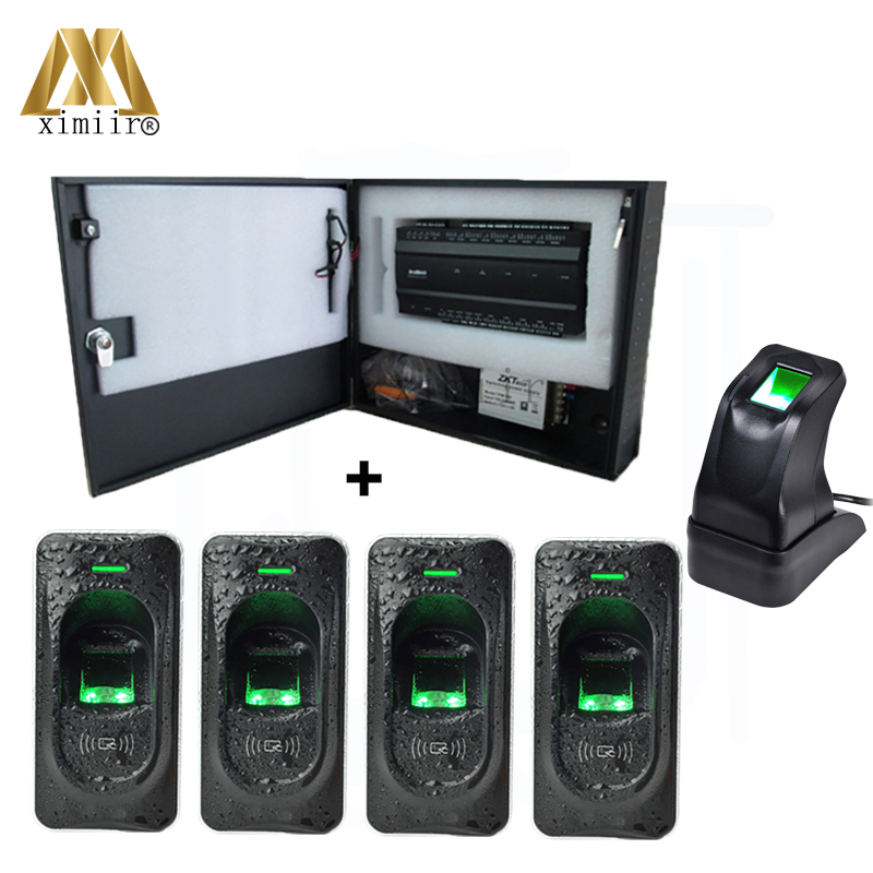 INBIO460 4 Doors Access Control Panel Access Control System With FR1200 Fingerprint Access Control Reader TCP/IP Free Software good quality tcp ip communication free software zk multibio700 facial time attendance and access control with fingerprint reader