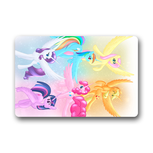 My Little Pony Unicorns Custom Designer rug Carpet Rugs Doormat Indoor / Outdoor Floor Door Mats Gate Pad 30x18/23.6x15.7 Inches