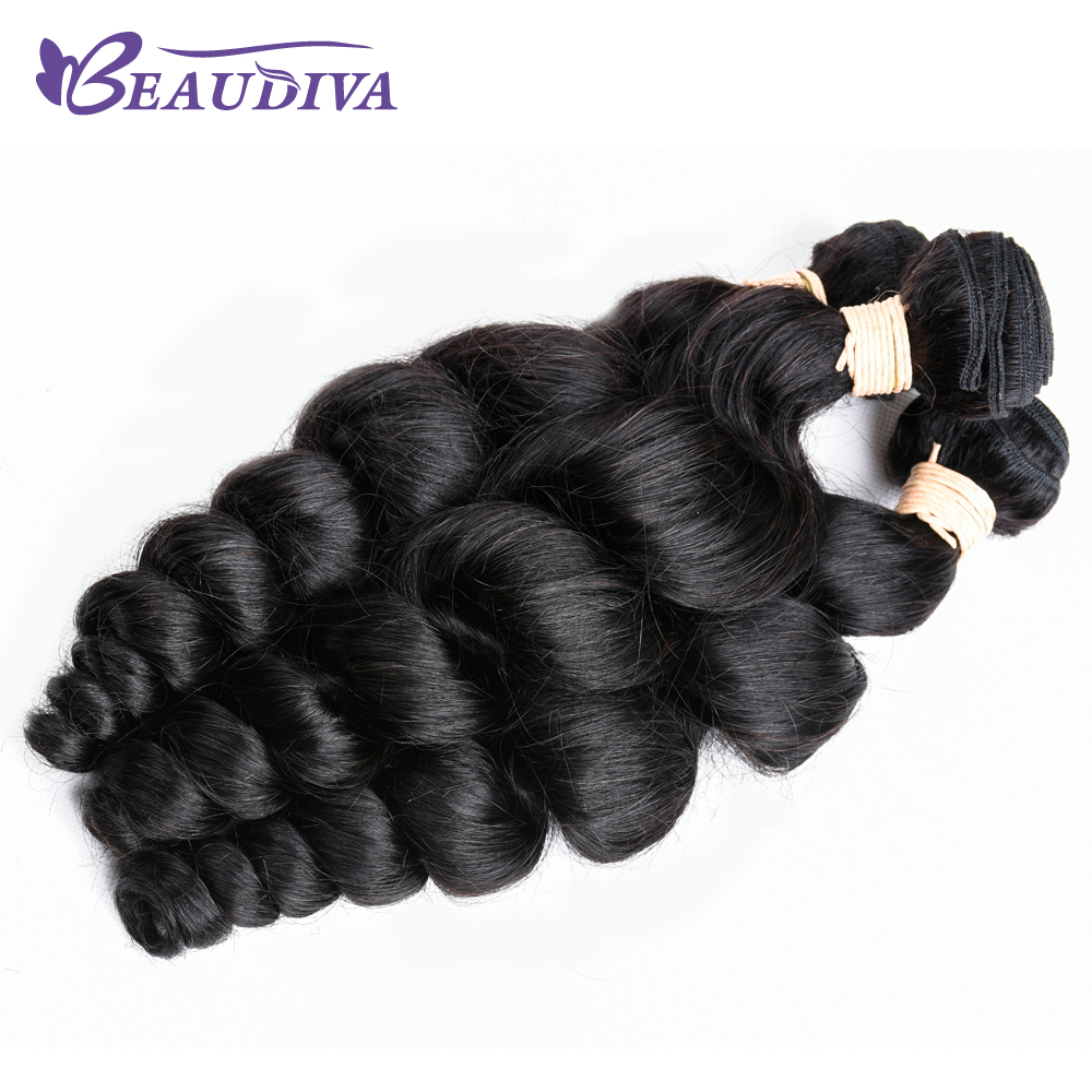 Beaudiva Hair Peruvian Loose Wave 1 piece Non-Remy Human Hair Extension Natural Color Hair Weave Bundles Free Shipping