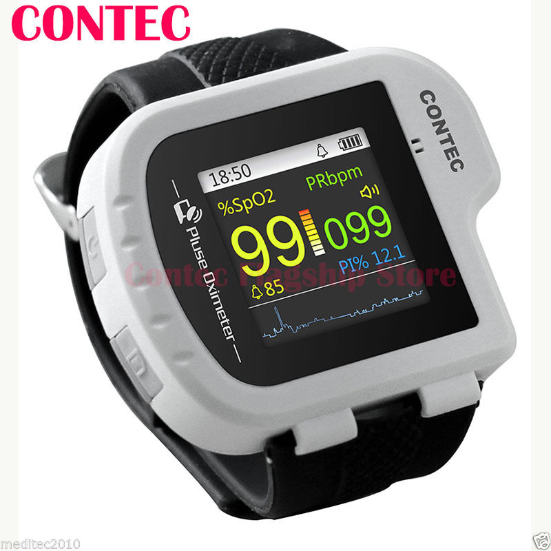 Wrist Pulse Oximeter SpO2 value display + Software + Pc +Probe CONTEC CMS50I цена 2017