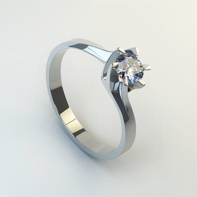 Six Claw Carat Zircon Wedding Rings