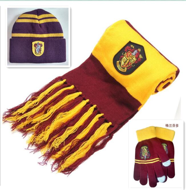 AHarri Potter Scarf Scarves Gryffindor/Slytherin/Hufflepuff/Ravenclaw Scarf Harry's Scarves Cosplay Costumes Halloween Gift