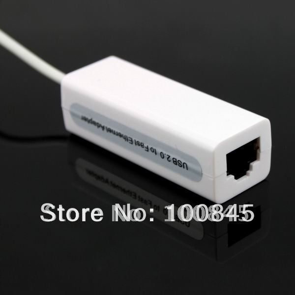 High Speed USB 2.0 to Ethernet RJ45 Network LAN Adapter Card Dongle 100Mbps for Tablet PC, Notebook