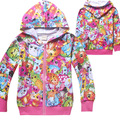 Cartoon Animals Graffiti Girl Hooded Coat & Outerwear Spring Girls Windbreaker Baby boys Jackets Kids Clothes Children Clothing
