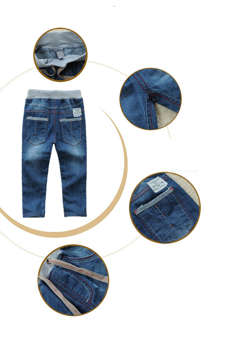 e053fe9feb44a Big Discount] Promotion High quality Children Jeans Classic Solid ...