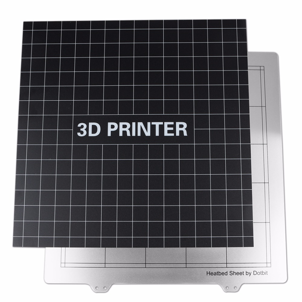 300x300mm Sticker Build Sheet +Spring Steel Sheet Heat Bed Platform 3D Printer Buildplate For Creality CR-10 Tevo Lulzbot 6