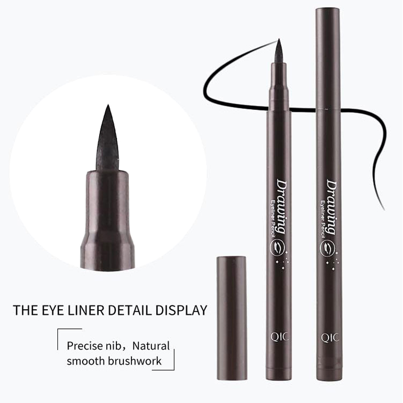 QIC new pieces Style Black Long-lasting Waterproof Eyeliner Liquid Eye Liner Pen Pencil Makeup Cosmetic Beauty Tool Wholesale