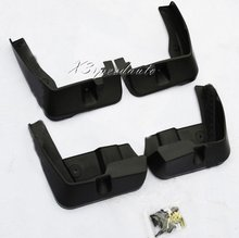 High Quality 4PCS Soft Black Plastic Fenders Mudguards For Sabaru Outback 2010-2013