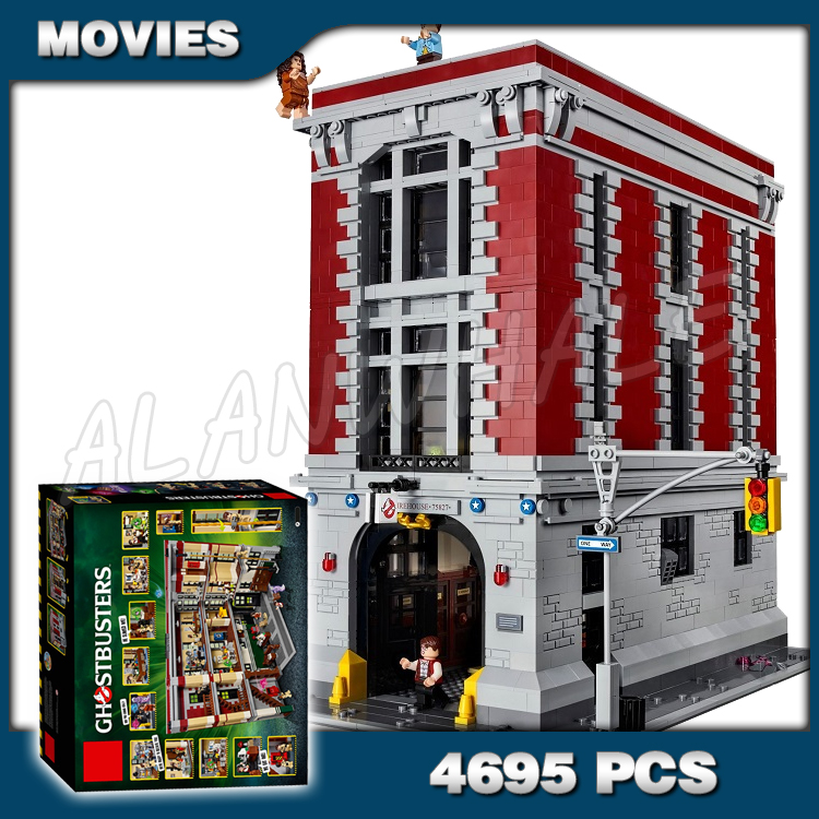 4695pcs Ghostbusters Firehouse Headquarters Big House Fire Station Model Building Kits Blocks Children Toys Compatible with <font><b>Lego</b></font> image