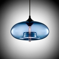 Round Glass Chandelier Creative Personality Stained Glass Chandelier Restaurant Modern Chandelier Bar Chandelier lighting lamps