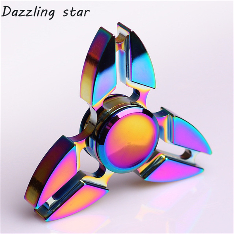 Gyro Fidget Spinner Autism ADHD Metal Spinning-Ds159 Kids/adult Finger-Focus-Toy Luminous