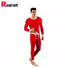 Fashion Sexy Mens Long Johns V-Neck Modal Top And Bottom Leggings Pants Slim Warm Men Thermal Underwear Set Comfort Sleepwear