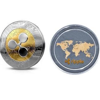Best 1Pcs Plated Ripple Coin XRP CRYPTO Commemorative Ripple XRP Collectors Coin Craft Souvenirs Gift 1