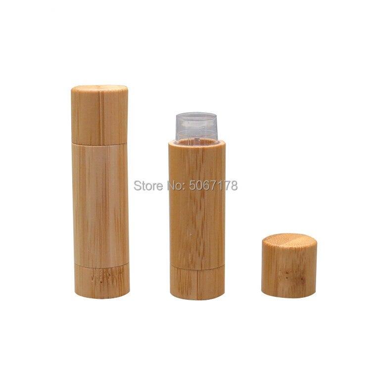 5ml rouge à lèvres Tube bricolage baume à lèvres conteneurs vides cosmétiques Lotion conteneur colle bâton naturel bambou voyage bouteille