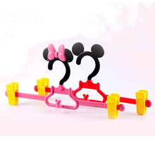 Cute Cartoon Plastic Pants Skirt Hanger, Space Saving Can be Combine Dress Hanger,Mickey & Minnie Style (15 Pieces/ Lot)