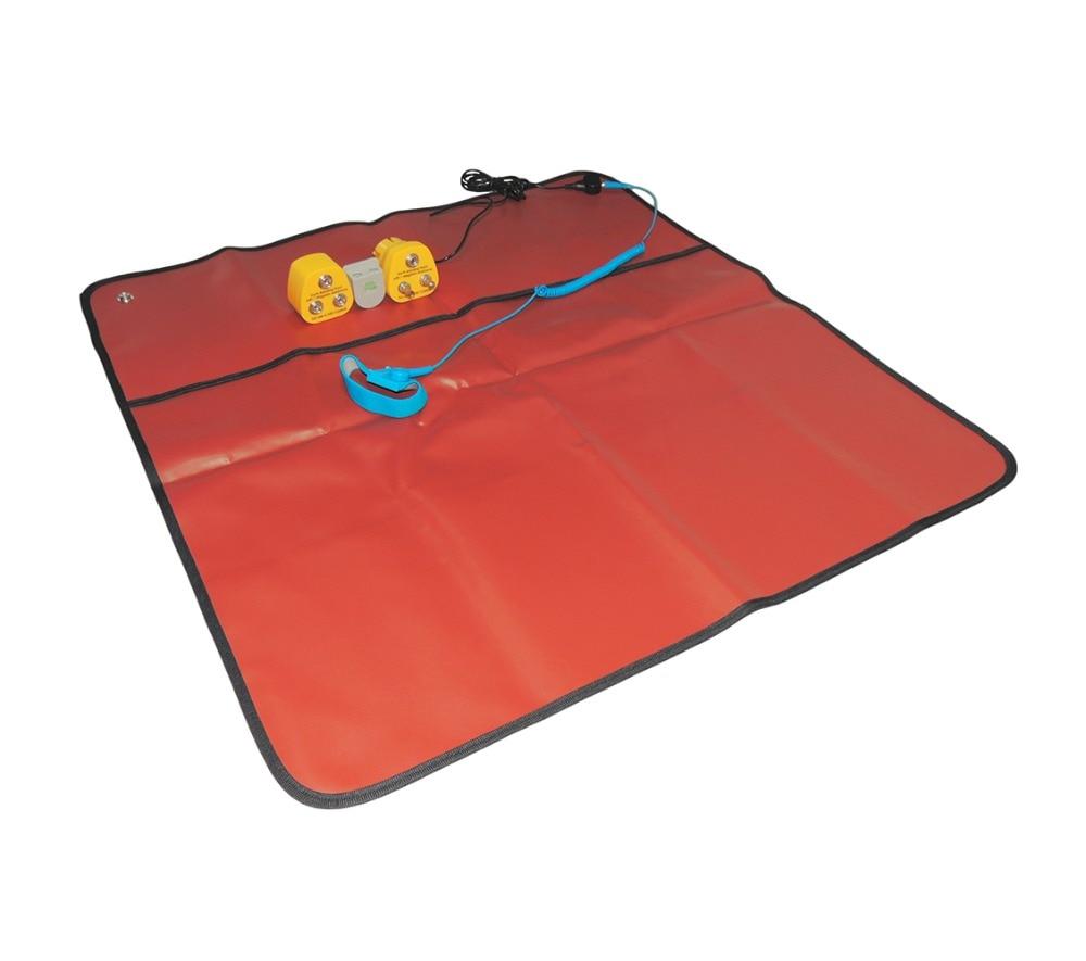 AIDACOM ESD Antistatic Mat Red Blue With 10mm Stud 2m Cord Wrist Strap 2M grounding cord Earthing Bonding plug игла для звукоснимателя ortofon 2m blue stylus