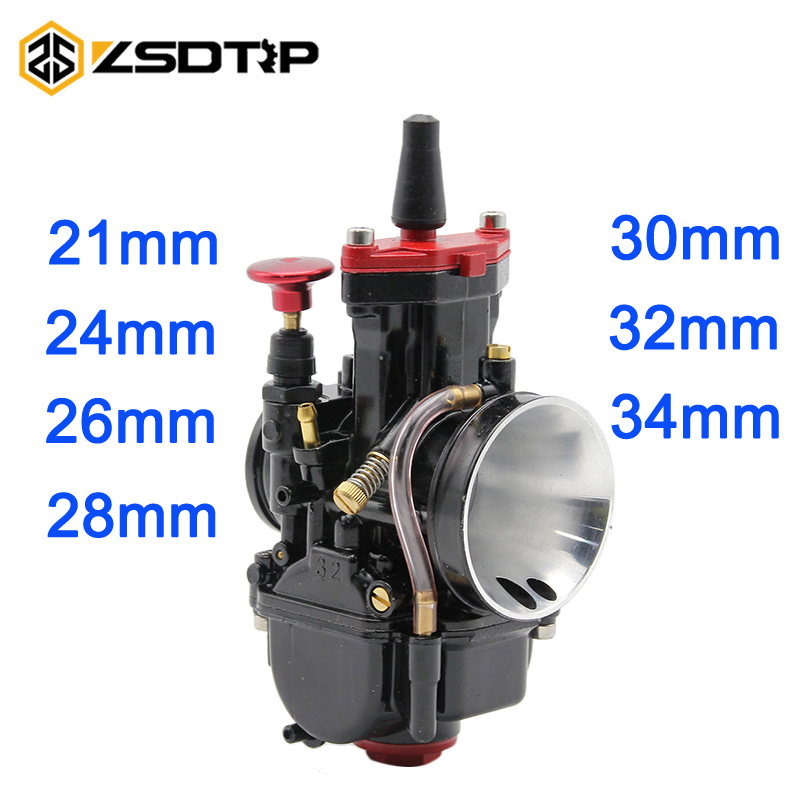 ZSDTRP 21/24/26//28/30/32/34 mm Motorcycle Engine Part Carburetor Mikuni PWK Carburetor Scooters with power jet motorcycle ATV original 26mm mikuni carburetor for cbt125 cb125t cbt250 ca250 carburador de moto