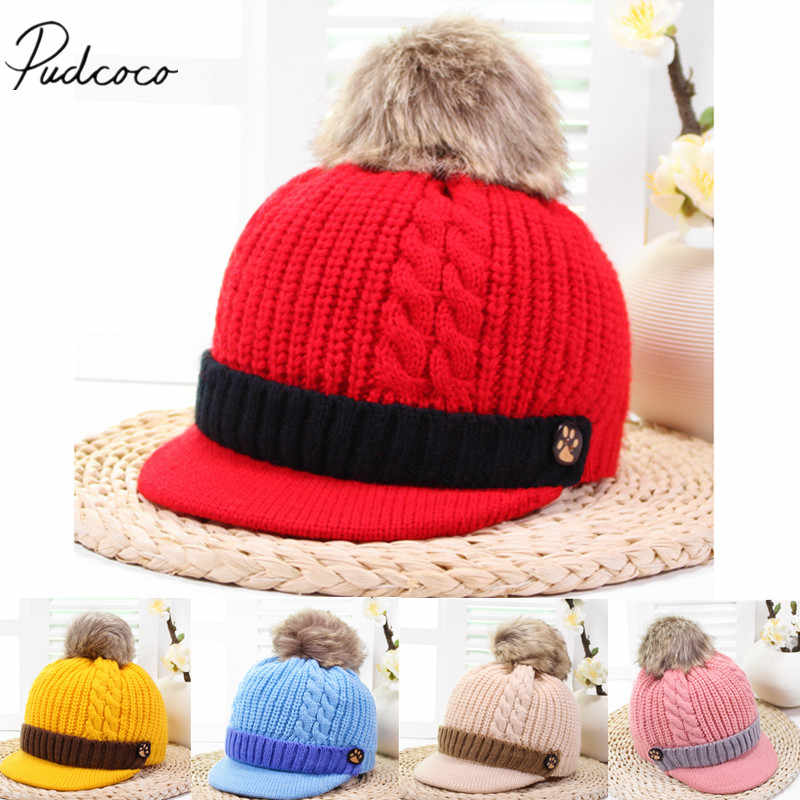 df6392e3946d8 Detail Feedback Questions about 2018 Brand New Thick Newborn Baby Girls Boys  Infant Knitted Hat Furry Ball Cute Caps Winter Warm Beanies Baby Lovely  Gifts ...