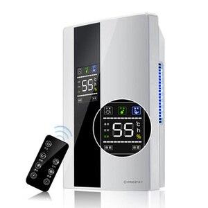 Image 2 - Deshumidificador multifunción para el hogar, secador de aire eléctrico con temporizador de 24h, máquina de secado desecante inteligente, sistema de drenaje Doble