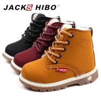 JACKSHIBO Kid Winter Martin Boots Outdoor Ankle Boots For Girls Warming Plush Kid Fashion Rubber Sole