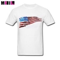 Customised Retro American Flag West Texas T Shirts XXXL Mens Short Sleeves Tshirt