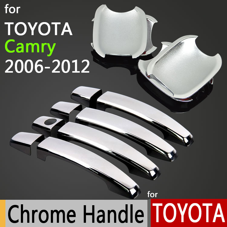 For Toyota Camry 2006-2011 Luxurious Chrome Door Handle Covers Accessories Stickers Car Styling 2007 2008 2009 2010 Aurion XV40 motocross dirt bike enduro off road wheel rim spoke shrouds skins covers for yamaha yzf r6 2005 2006 2007 2008 2009 2010 2011 20