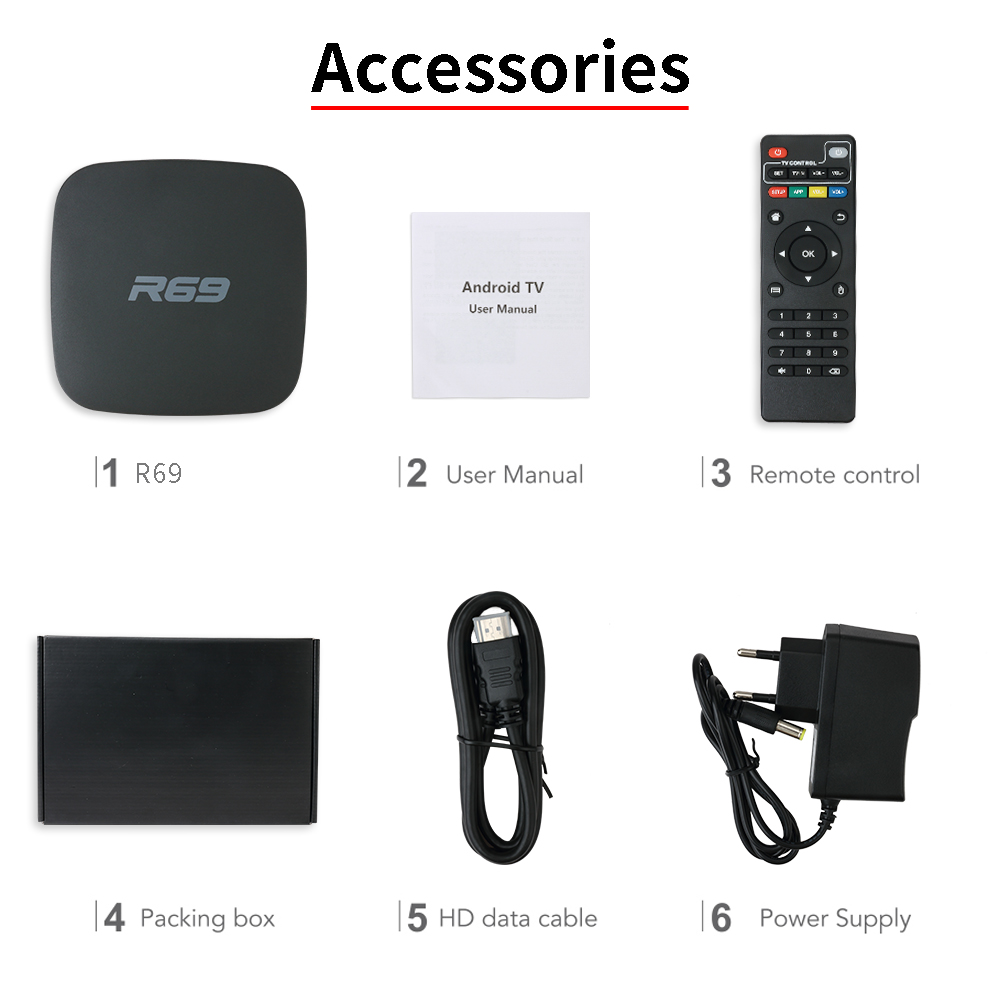 Image 5 - Mini R69 Android 7.1 Smart TV Box 1GB 8GB Allwinner H3 Quad Core 2.4G Wifi Set Top Box 1080P HD Support 3D movie Suppot IPTV Box-in Set-top Boxes from Consumer Electronics