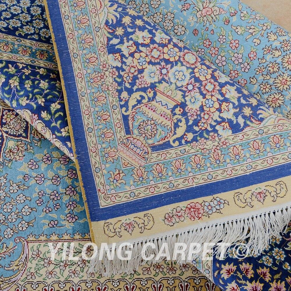 Yilong 6'x9 'Vantage ръчно заплетен син килим - Домашен текстил - Снимка 6