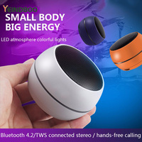 YEINDBOO Wireless Bluetooth Speaker Metal Mini Portable Subwoof Sound With Mic TF Card FM Radio AUX MP3 Music Play Louds