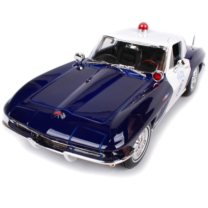 Maisto 1:18 1965 Corvette Police car Old Car model Diecast Model Car Toy New In Box Free Shipping 31381 maisto 1 18 1952 citroen 2cv retro classic car diecast model car toy new in box free shipping 31834