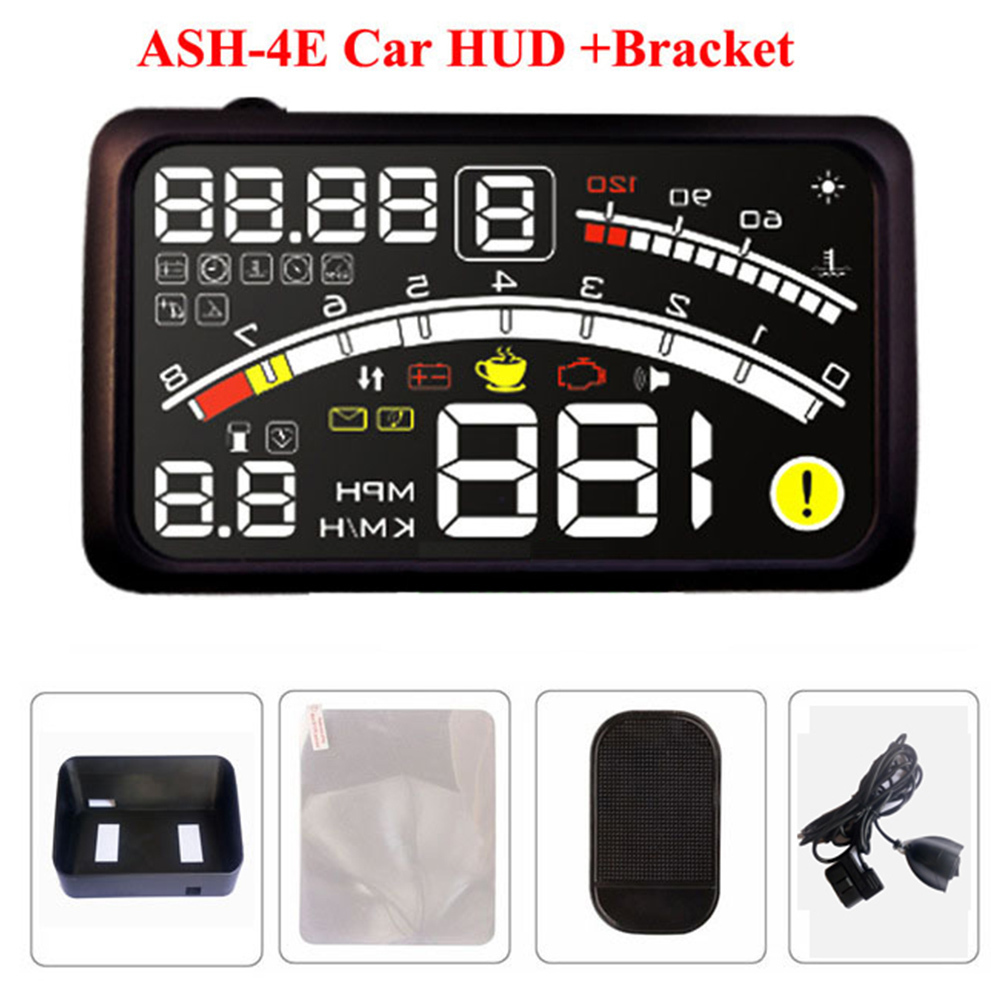 5.5 Inch Car HUD Head Up Display Projector Car Styling Speeding Warning System 12V OBD II OBD2 Interface Fuel HUD Display Car geyiren x5 avtomobilej head up displej 3 djujmov hud avtomobilja obd ii vozhdenie avtomobilja skorost preduprezhdenie jelektronnyj budilnik naprjazhenie vetrovogo stekla proektor