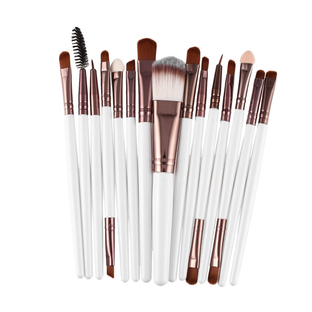 15Pcs/Kit Makeup Brushes Set Eyelash Lip Foundation Powder Eye Shadow Brow Eyeliner Cosmetic Make Up Brush Beauty Tool 12pcs professional makeup brushes eye shadow foundation lip brush set cosmetic tool eye face cosmetic make up brush tool kit