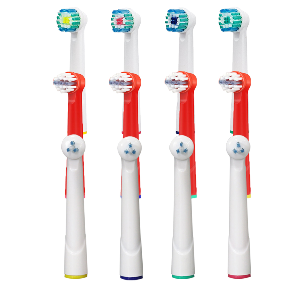 все цены на 12PCS Electric Toothbrush Heads for Oral-B Replacement Kids Braun Brush Heads Soft Triumph/Advance Power/Vitality Dual Clean онлайн