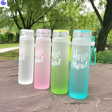 Новые красочные термостойкие очки стеклянная бутылка для воды 400 круглый чехол для хранения кистей для питья сока диаметр чашки 45 мм x Высота 19 см