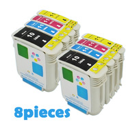 8 XiongCai Compatible ink cartridges For HP 10 11 Designjet 110 100plus C4844A Inkjet 2800dt 2800dtn printer For HP10 For HP11