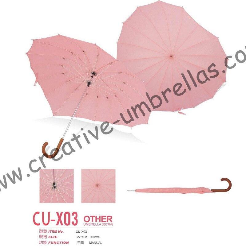 ̿̿̿(•̪ )Envío libre por el mar, 16 K en forma de corazón, paraguas ...