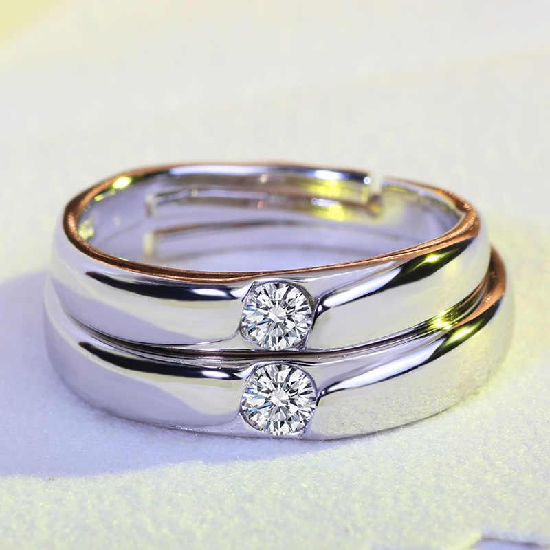 2019 แฟชั่นสีขาวทองเครื่องประดับคริสตัลเดี่ยวแหวนสำหรับคนรัก Claddagh และผู้ชาย Plata แหวน JZ37