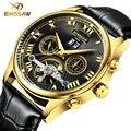 Binssaw/2016 relógios de luxo homens marca de topo relógio mecânico turbilhão de negócios de moda esporte casual relógio de pulso relogio masculino