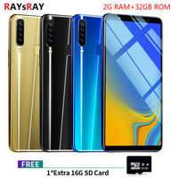 """Raysray A9s 3G LTE Mobile Phone 6.1"""" 2GB RAM 32GB ROM Octa Core Two Rear Camera Android 8.1 Fingerprint Smart Phone"""