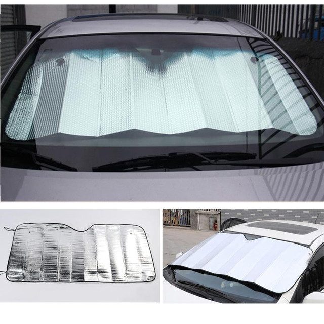 Front Windshield Car Window Foldable Sun Visor Shade Shield Sunshade Cover  Accessories Silver Color Foam d9dbd3ccac0