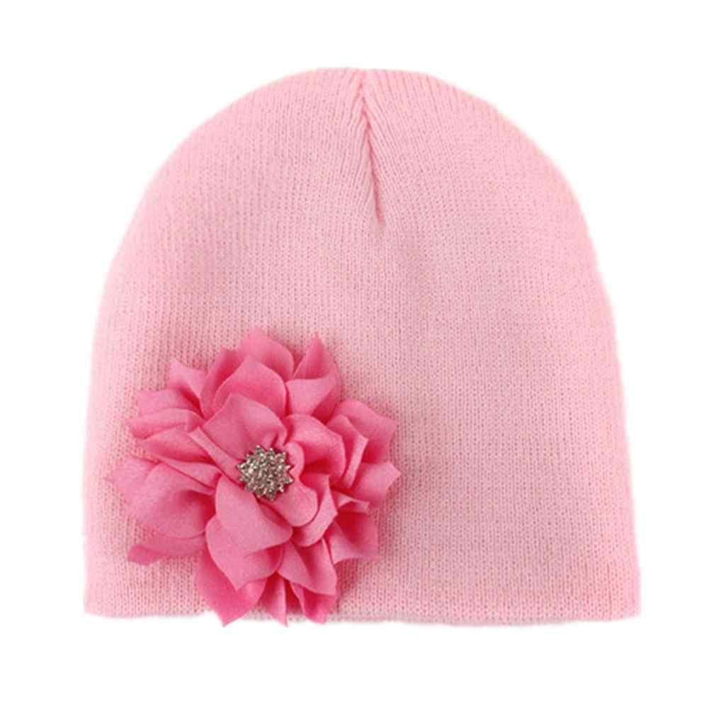 Hoa Hat Mềm Hat Dệt Kim Thiết Kế Cho Bé Gái Nhiếp Ảnh Trẻ Em Trẻ Sơ Sinh Mũ Đáng Yêu Nắp Ca-pô Phụ Kiện