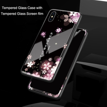 iphonexs Tempered Glass Case for iphone XS Full Cover with Screen Protection Film