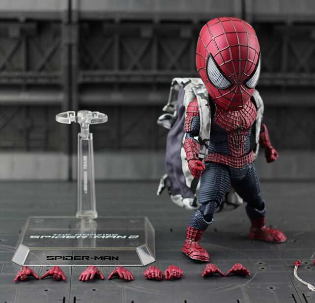 NEW hot 18cm Spider-Man Homecoming avengers Q version action figure toys Spiderman Christmas gift doll with box