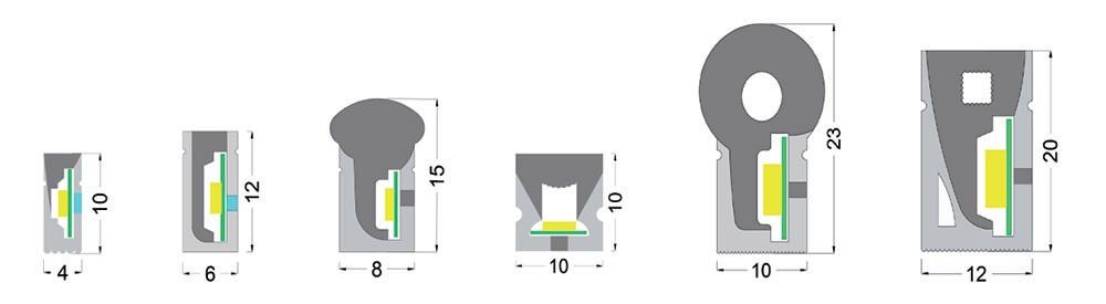 cross-sectional drawings