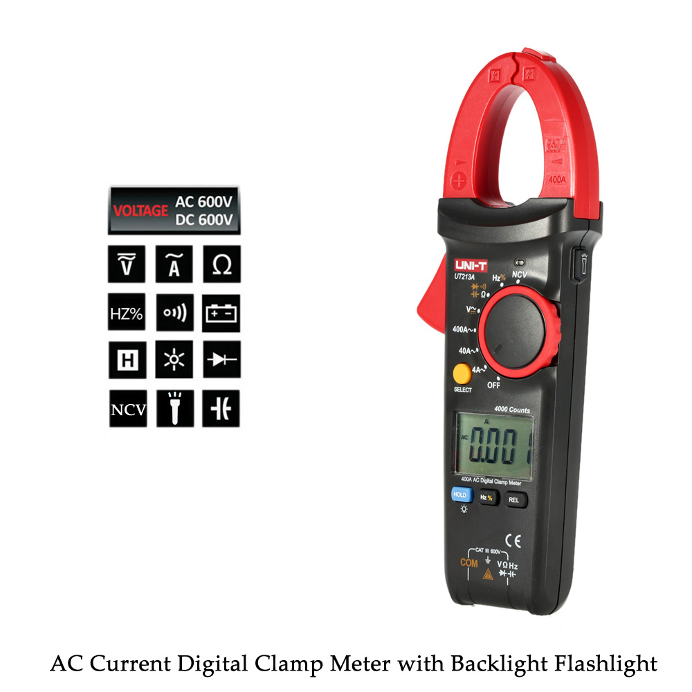 UNI-T AC/DC Current Tong Digital Clamp Meter Multimeter Voltage Resistance Capacitance Diode Continuity NCV Tester in Flashlight rc car 1 12 scale 45kmh s912 2 4g 2wd rc crawler drift car remote control bigfoot speed waterproof and shockproof toys for gifts